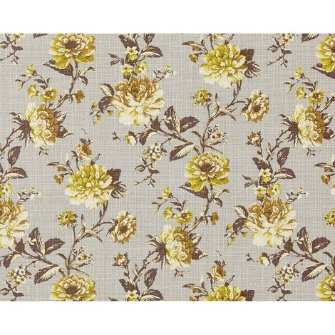 XXL wallpaper wall non-woven floral look flowers EDEM 603-91 grey green brown 10.65 sqm (114 sq ft)