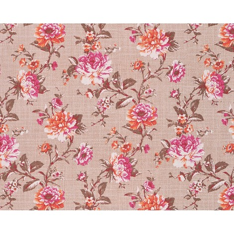 XXL wallpaper wall non-woven floral look flowers EDEM 603-93 brown orange pink white 10.65 sqm (114 sq ft)