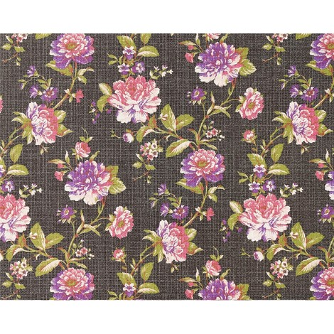 XXL wallpaper wall non-woven floral look flowers EDEM 603-94 brown pink green 10.65 sqm (114 sq ft)
