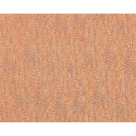 XXL Wood non woven wallpaper wall EDEM 672-91 stylized wood grain tile-red orange-brown subtle glitters 10.65 sqm