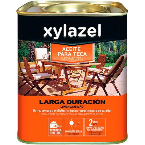 Xylazel aceite para teca larga duracion color nogal 5l