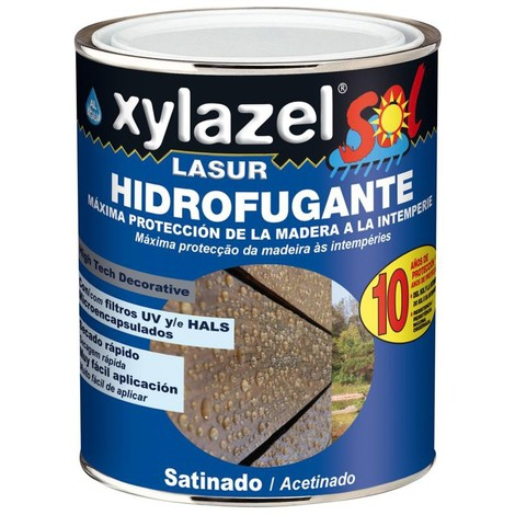 XYLAZEL LASUR HIDROFUGANTE SATINADO AL AGUA 750 ML