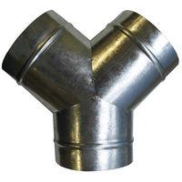 Y de distribution d'air chaud en acier galva rond 3 x Ø125mm