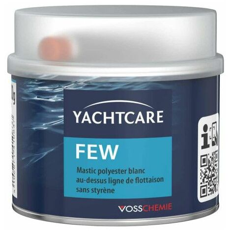 Yachtcare blanco almáciga por encima de la línea de flotación de 500 g con el endurecedor