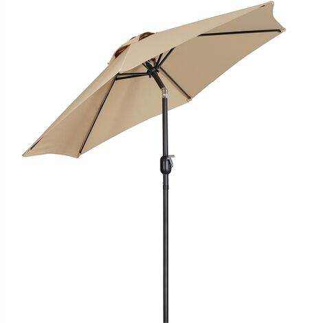 """main image of """"Yaheeetch Sombrillas Terraza 230cm Inclinable Parasol para Jardín con Manivela Impermeable Proteccion UV para Patio, Exteriores, Junto a Piscina, Restaurante y Cafetería"""""""