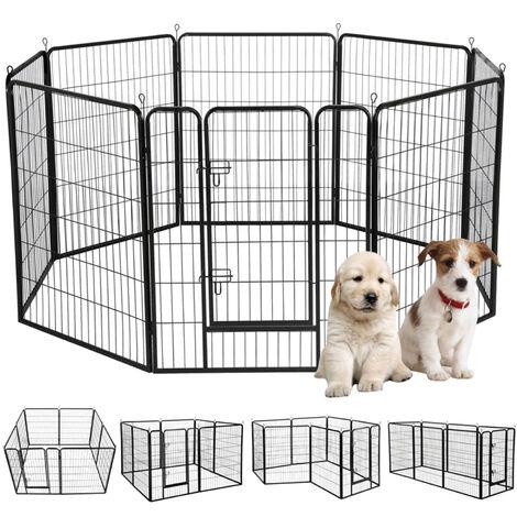 Yaheetech 8 Panel Pet Playpen Dog Exercise Pen Cat Rabbit Fence Indoor/Outdoor 100cm High