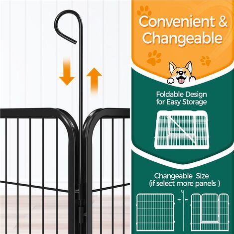 Yaheetech 8 Panel Pet Playpen Puppy Dog Cat Rabbit Portable Cage Run Pen Folding Fence