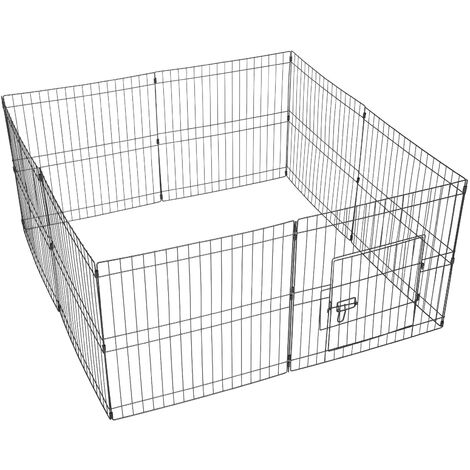 Yaheetech 8 Panel Puppy Pen Pet Dog Exercise Playpen Rabbit Fence Enclosures Run Cage