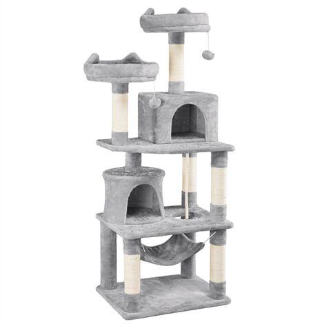 Yaheetech Árboles para Gatos Rascador Juego para Mascota Casa de Gatos Sisal Plataformas Altura 145 cm