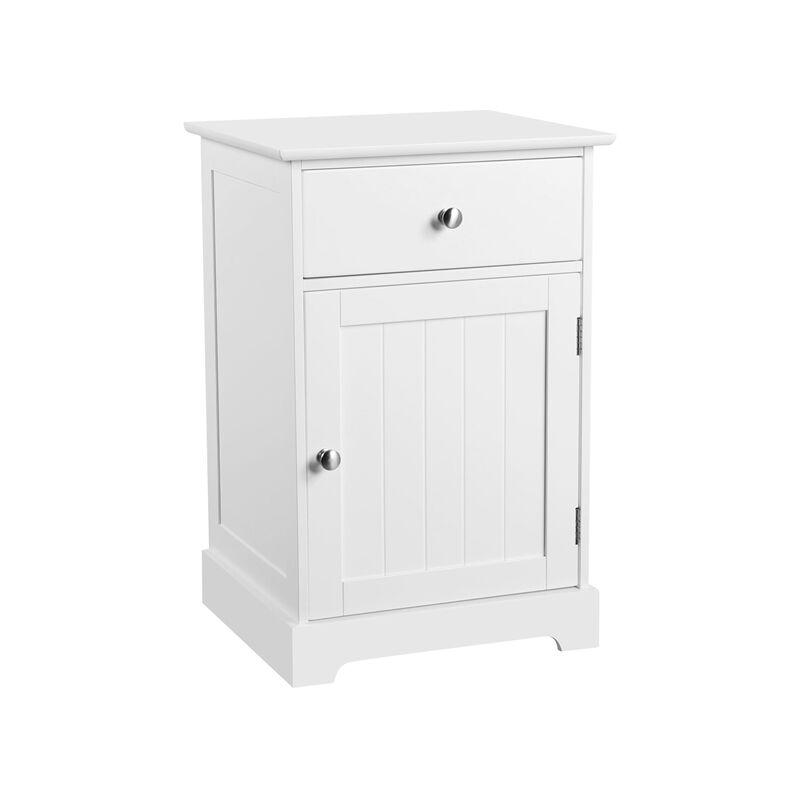 Mesita de Noche con cajón Muebles Auxiliar para Baño Mesilla Blanca para Dormitorio Sala de Estar Baño 35 x 40 x 60 cm - Yaheetech