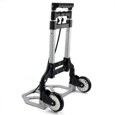 Yaheetech Carretilla de Mano Carro de Transporte Plegable MAX Carga 80Kg Aluminio
