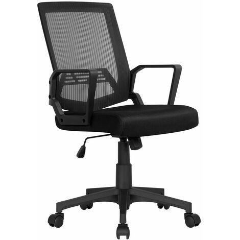 """main image of """"Yaheetech Chaise de Bureau à Roulettes Fauteuil de Bureau Ordinateur Ergonomique Pivotante Hauteur Réglable Inclinable Maille Mesh"""""""