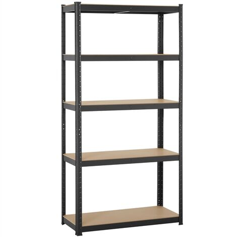 Yaheetech Garage Shelving Units - 5 Tier Heavy Duty Storage Shelves Metal Shed Utility Racking,180cm x 90cm x 40cm,175KG Per Shelf