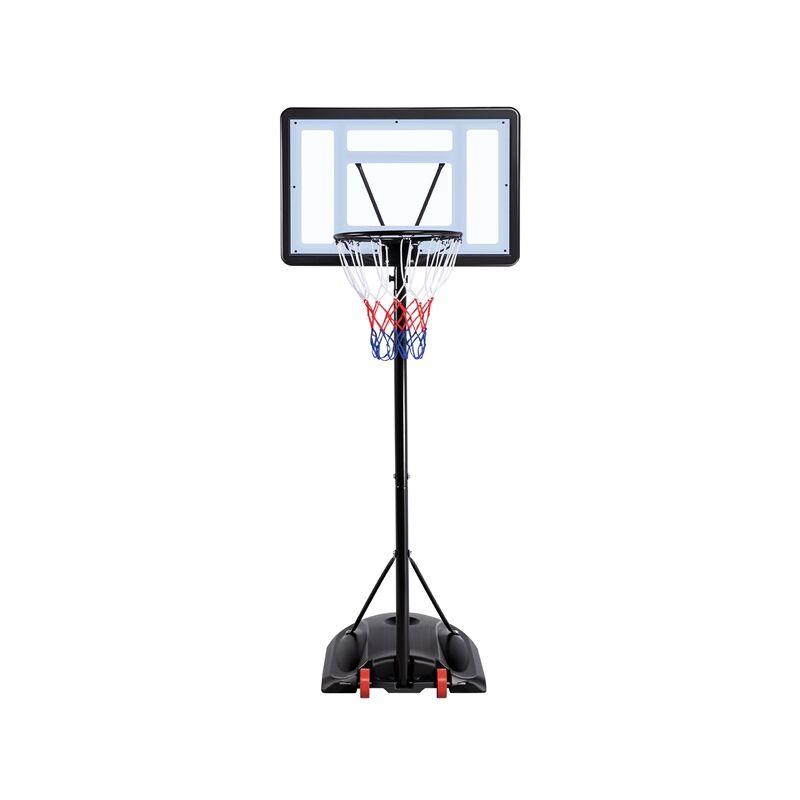 Yaheetech Panier de Basket Ball sur Pied Portable Hauteur Réglable 219-279 cm 6 Niveaux à Roulettes