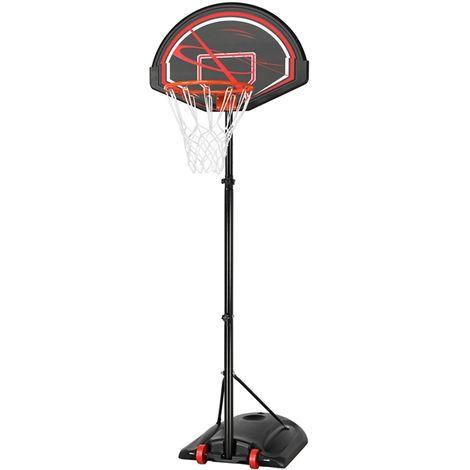 Yaheetech Panier de Basket sur Pied Extérieur/Intérieur Panier de Basket-Ball Mobile Portable Hauteur Réglable 170 cm à 230 cm, Base de Lestage