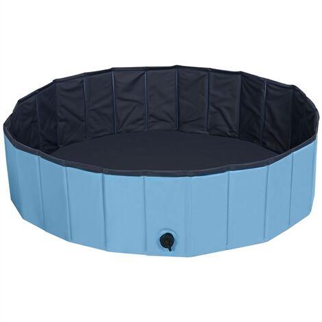 Yaheetech Piscina para Perros Bañera Plegable Mascota Piscina de Baño Ducha Diferentes Azul