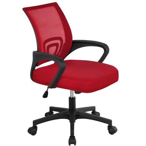 Yaheetech Schreibtischstuhl Bürostuhl Ergonomisch Drehstuhl Bürosessel Mesh Netz Höhenverstellbar