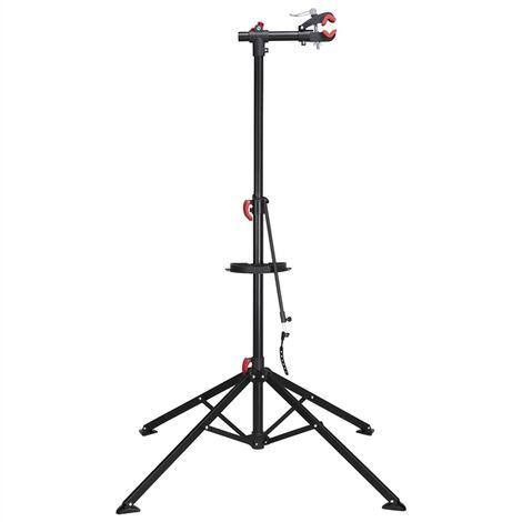 Yaheetech Support Stand de Réparation pour Vélo/Bicyclette Pied d'Atelier Professionnel vélo VTT Portant/Poste de Montage Hateur Réglable Pince de Serrage, Porte-outil Magnétique, Fixation pour Guidon