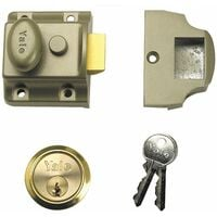 Yale 723 Deadlatches Polished Brass Cylinder