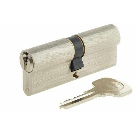 YALE Cylindre de Serrure - Pour Porte Extérieure/Entrée - 5 Goupilles - 3 Clés - 40 x 40 mm