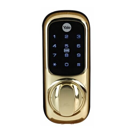Yale Keyless Connected Smart Door Lock - Polished Brass YD-01-CON-NOMOD-PB