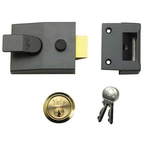 Yale Locks 630091001702 91 Basic Nightlatch 60mm Backset DMG Finish Box