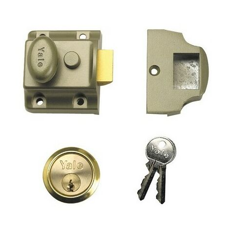 Yale Locks 630706101322 706 Traditional Nightlatch 40mm Backset ENB Finish Box
