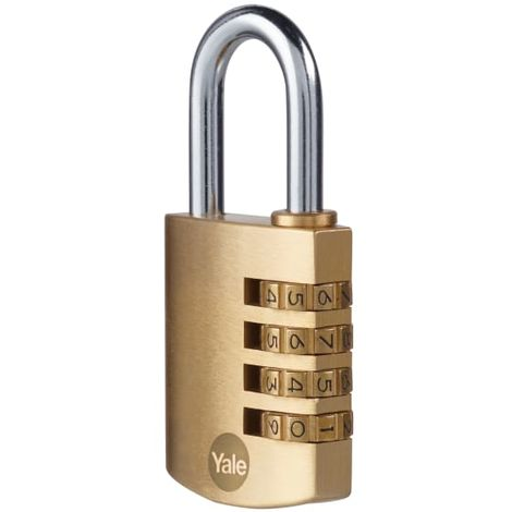 Yale Locks Brass Combination Padlock 40mm