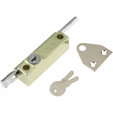 Yale Locks P124 Door Push Bolt Brass Finish Visi