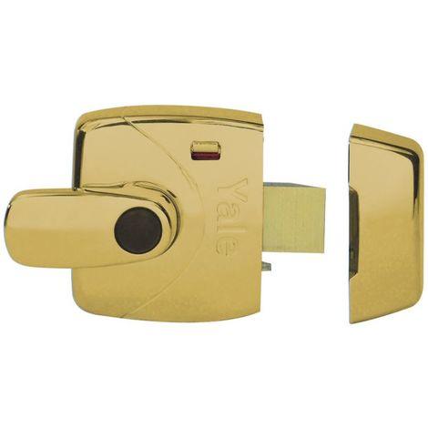 Yale X9 Safety Handle Nightlatch 60mm-Polished Brass