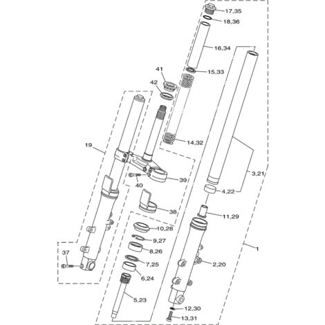 Yamaha 4B5-23110-00 Tube de fourche nu - T-max 500 09-13