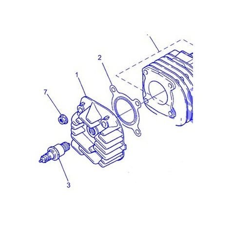 Yamaha 4FWE11810000 junta de culata Ovetto 00-03 YN50