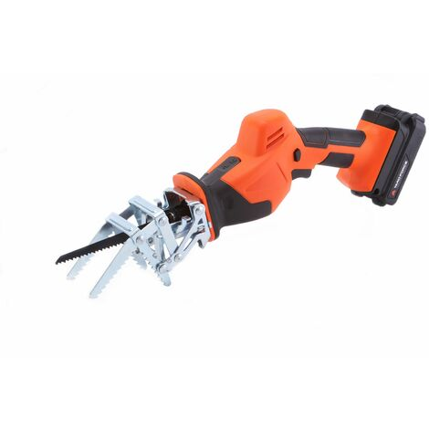 Yard Force 20V Cordless Garden Saw with Multiple Blades, Clamping Jaw, 2.0Ah Lithium-Ion Battery & Charger LS C08