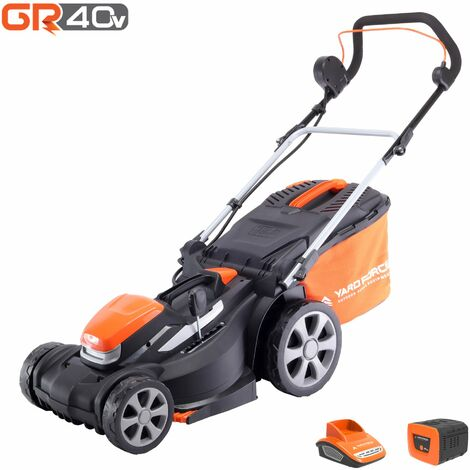 """main image of """"Yard Force 40V 34cm Cordless Lawnmower with lithium ion battery & quick charger LM G34A - GR 40 range"""""""