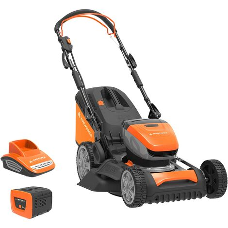 Yard Force 40V 46cm Self-Propelled Cordless Lawnmower with 5Ah Lithium-ion Battery & Quick Charger LM G46D - GR 40 range