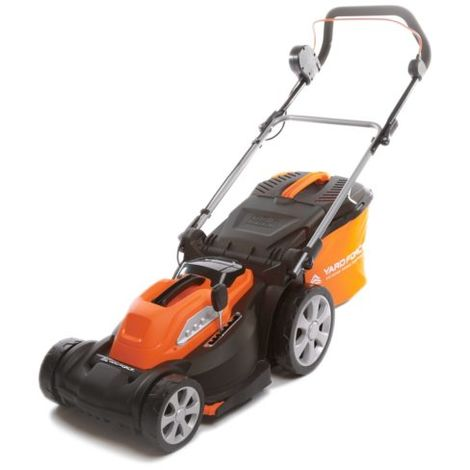 Yard Force 40V Li-Ion Cordless Battery Rotary Lawnmower with 37cm Cutting Width & Rear Roller