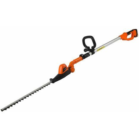 Yard Force - Taille-haie téléscopique électrique 20V Li-Ion Tête Ajustable - Longueur de Coupe 41cm - Noir/Orange
