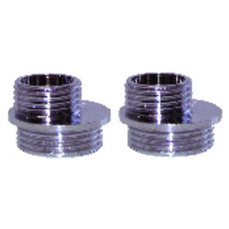 """Yard valves and fittings - Off-centre fitting M1/2"""" x m3/4"""" (X 2)"""