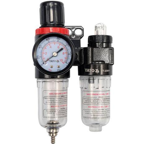 YATO Air Filter Regulator and Lubricator 6.3 mm YT-2384