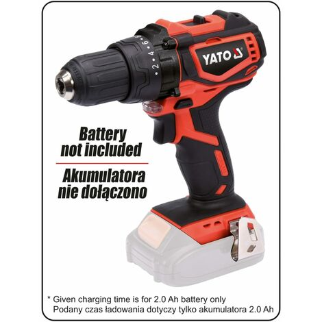 YATO Brushless Drill Driver without Battery 18V 42Nm