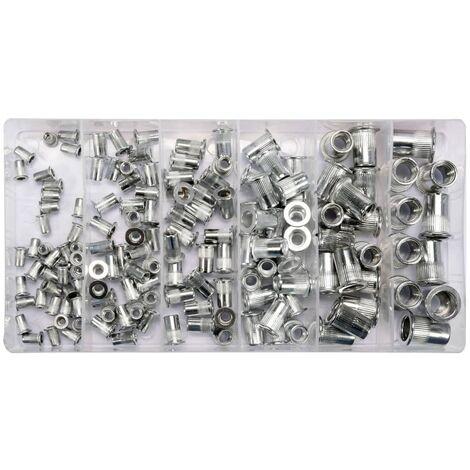 YATO Écrous à rivet 150 pcs Aluminium M3-M10