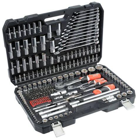 YATO Kit de clés à cliquet 216 pièces YT-38841