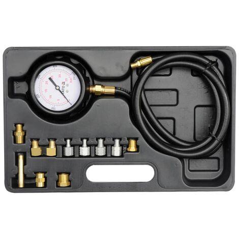 YATO Kit testeur de pression de l'huile YT-73030 en métal 12 pièces