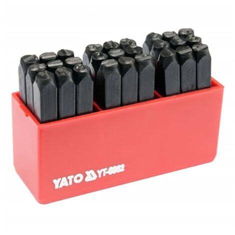 YATO Lettre à frapper 27 pcs 6 mm