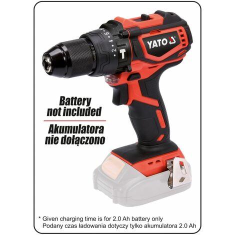 YATO Martillo perforador sin escobillas sin batería 18V 42Nm