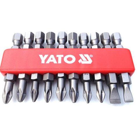Yato professional mixed NON SLIP screwdriver bits set of 10