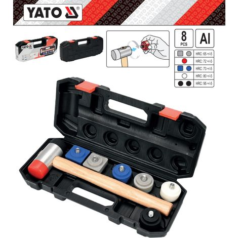 Yato professional mounting mallet hammer with exchangeable tips (YT-45905)