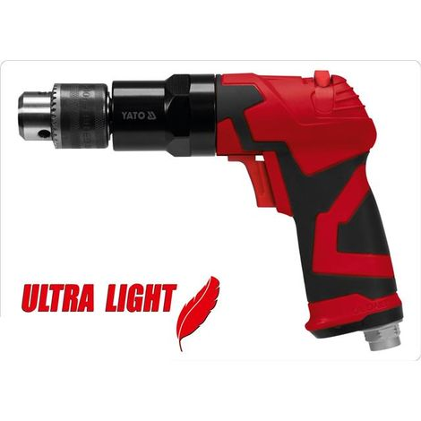"""Yato professional reversible air drill, 1/4"""" inlet composite body (YT-09703)"""