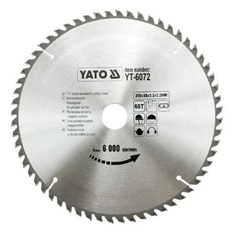 Yato professional TCT circular saw blade 250 mm 60 teeth 30 bore (YT-6072)