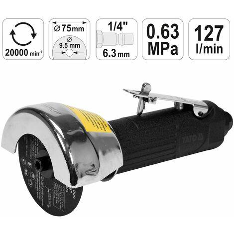 Druckluft Winkelschleifer Pneumatik Flex Trenn Schneider Ø 125 mm Trennscheibe